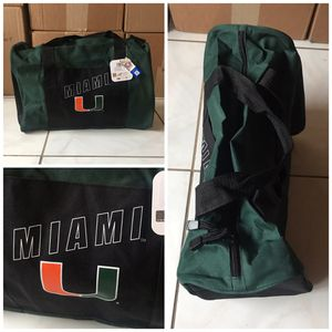 New! University of Miami Hurricanes duffle gym bag for Sale in Hialeah, FL