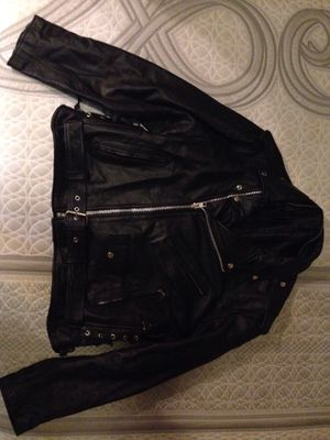 Jacket Motorcycle XL 100% italian leather for Sale in Hollywood, FL