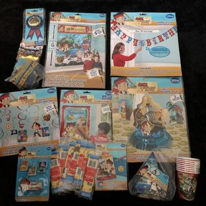 Jake & the neverland pirates birthday supplies for Sale in Ontario, CA