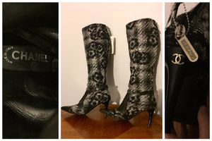 Vintage Chanel Tweed Knee High Boots for Sale in Miami, FL