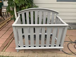 Light Gray Baby Crib for Sale in Aurora, CO