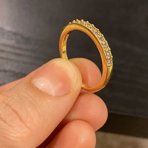 18K Yellow Gold plated Promises/Wedding Ring- Code WFT10 for Sale in Dallas, TX