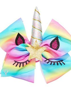 Rainbow Unicorn Large Bow Hair Tie for Sale in Lakewood,  CA