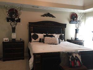 Elegant King Bedroom Set without Mattress For Sale for Sale in Atlanta, GA