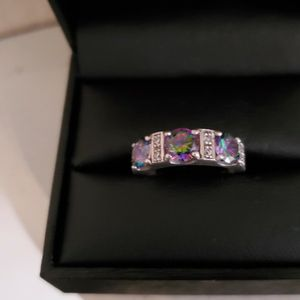 Beautiful Sterling Silver 925 Mystic Fire Topaz Ring Size 6 Stamped for Sale in Virginia Beach, VA