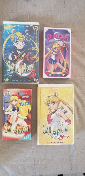 Sailor Moon VHS Tapes in CA for Sale in Fontana, CA