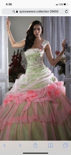 Brand new Quinceañera dress size 6 hot pink /lime green for Sale in Tacoma, WA