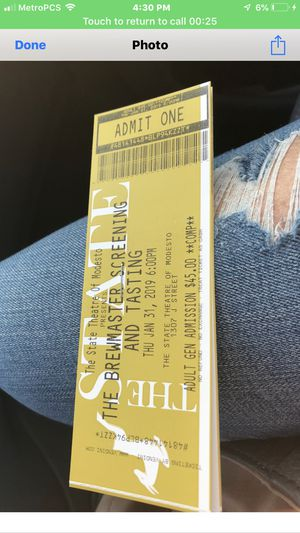 Brewery tickets for Sale in Modesto, CA