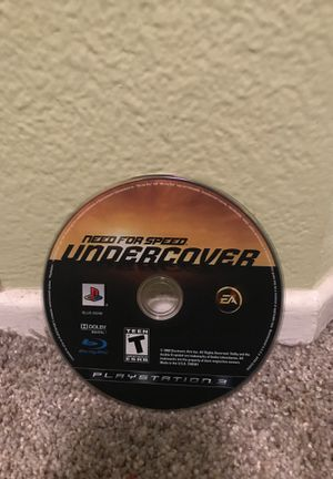 Need for speed undercover ps3 for Sale in Aliso Viejo, CA