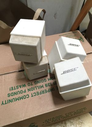 Bose cube speakers pair, dirty white for Sale in Alameda, CA