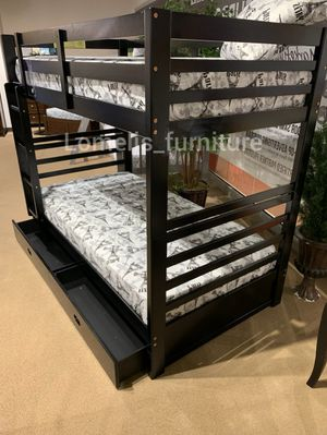 Twin/twin bunk beds with mattresses included for Sale in Bellflower, CA