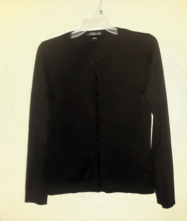 Black button up cardigan by August Silk size large