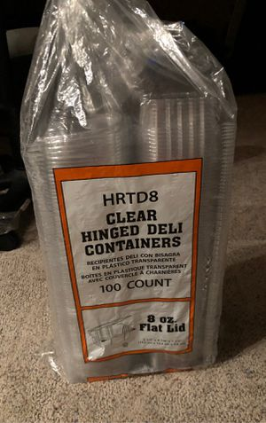 8 oz clear deli containers 90 count for Sale in Indianapolis, IN