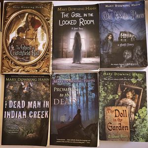 mary downing hahn. Set contains- The dead man in Indian creek,Promisises to the dead,the doll in the garden,the old wills place,the girl in the locked for Sale in Cedar Park, TX