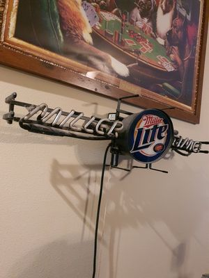 90s Vintage Miller Lite Cold Beer Lighted Light Sign Miller Brewing READ for Sale in Laredo, TX