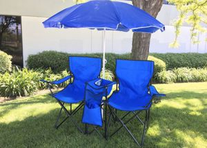 Dual Camping Chair with Umbrella and Cooler for Sale in Pomona, CA