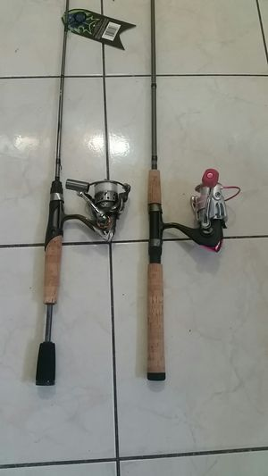 Fishing rods with reels for Sale in Lynwood, CA