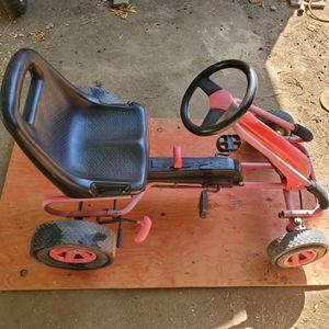 Go Kart, Outdoor Kids Pedal Go Kart with Adjustable Bucket Seat, Steering Wheel, Rubber Wheels, Brake, Pedal Powered Ride On Kart for 3-8Years for Sale in Riverside, CA