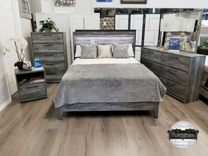 $679 WE DELIVER! BRAND NEW GREY ASHLEY QUEEN BED FRAME DRESSER AND MIRROR for Sale in Oviedo, FL