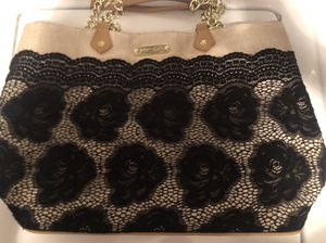 Betsey Johnson black floral lace tote bag for Sale in Owings Mills, MD