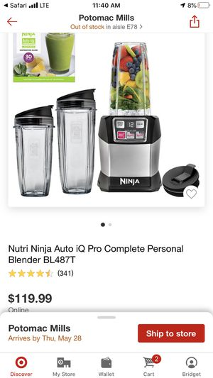 Ninja. blender comes with 24 oz, 16 oz 8oz cups for Sale in Woodbridge, VA