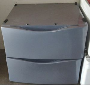 "Two gray pedesals drawer for Whirlpool or Kenmore front load washer and dryer 27"" wide for Sale in Houston, TX"