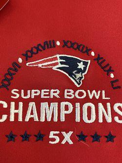 New England Patriots 5x Superbowl Champions XL Half Zip Sweatshirt Antigue for Sale in Buckeye,  AZ