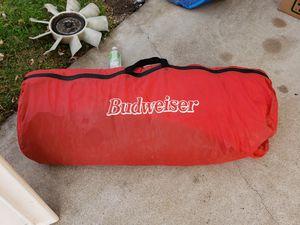 Budweiser sleeping bag was inflatable mattress for Sale in Clovis, CA