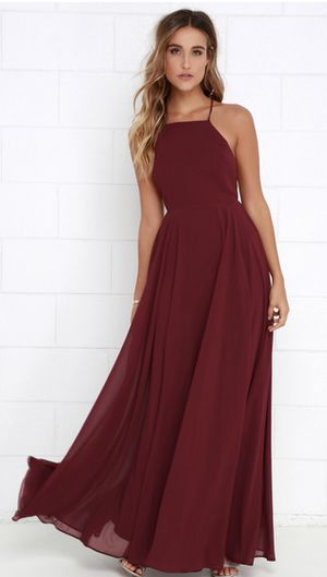 MYTHICAL KIND OF LOVE WINE RED MAXI DRESS SIZE SMALL for Sale in Mission Viejo, CA