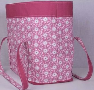 Homemade Pink & White Floral Tote Bag for Sale in Brook Park, OH