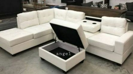🚛SAMEDAY DELIVERY 🚚SPECIAL] Pablo White Sectional | U5300 for Sale in Chevy Chase,  MD