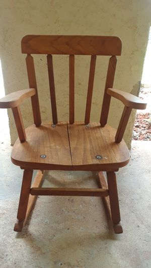 Kids wooden rocking chair for Sale in Parlier, CA