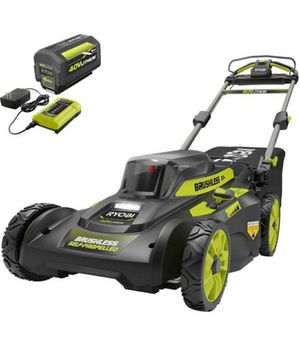 """Ryobi 20"""" 40V Brushless Cordless Walk Behind Self Propelled Lawn Mower with Battery and Charger for Sale in Lakewood, CA"""