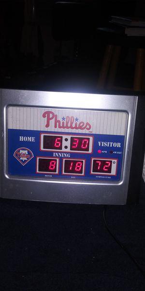 Phillies baseball clock for Sale in Mechanicsburg, PA
