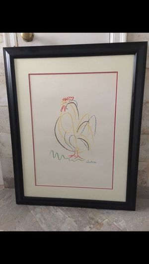 Framed Picasso Rooster Crowing Print for Sale in Atlanta, GA