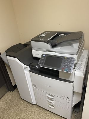 Ricoh COPIER/PRINTER/FAX/SCAN with finisher stapler for Sale in Lemont, IL