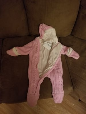 Pink baby overall sweater for Sale in Orlando, FL