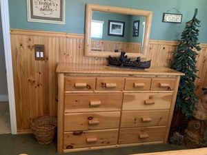 Pine log bedroom set for Sale in Wrightwood, CA