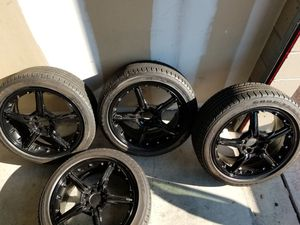 """Konig 18"""" rims and tires (Set of 4) for Sale in Las Vegas, NV"""