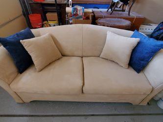 Tan Sleeper Sofa With Throw Pillows for Sale in Phoenix,  AZ