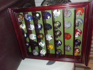 All NFL teams represent in this beautiful display case for Sale in Corona, CA