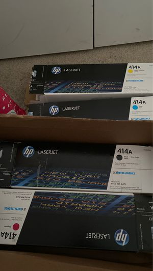 Hp laserjet printer ink (black,blue,yellow,and red) for Sale in Richmond, VA