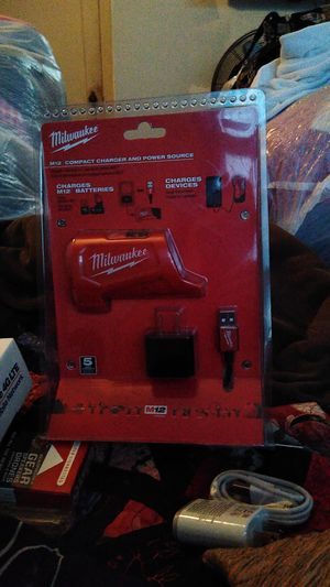 Milwaukee M12 compact power and charger source for Sale in Tacoma, WA