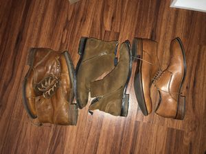 (Left to right) Bull boxer, Aldo and Cole Haan shoes/boots for Sale in Saginaw, TX