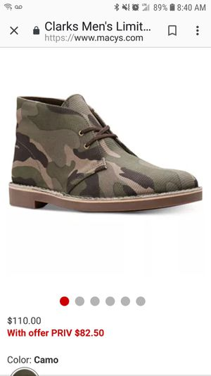 Clark's Camouflage Chukka Boots for Sale in Washington, DC