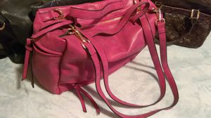 New Large Pretty Pink​ Purse. Comes, used for sale  Misty Black also. Roomy, several zip up pockets, use with Shoulder straps or not for Sale