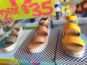 Soda brand beautiful sandals 2 pairs for $35 for Sale in South El Monte, CA