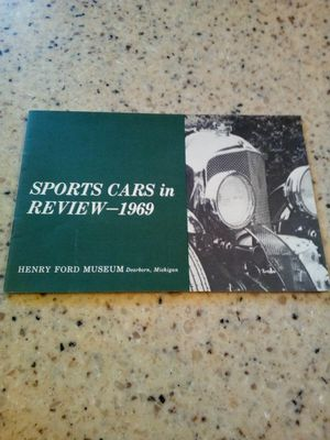 Vintage sports cars in review-1969 brochure/ Henry ford museum Dearborn, Michigan/ theater activities guide for Sale in Taylor, MI