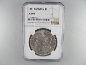 1921 Morgan Silver Dollar, NGC MS-64 -- LUSTROUS SILVER COIN! for Sale in Bolingbrook, IL