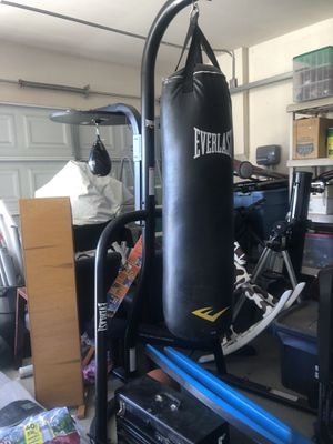 Everlast 100 pound bag with speed bag 200dollar for Sale in Murrieta, CA